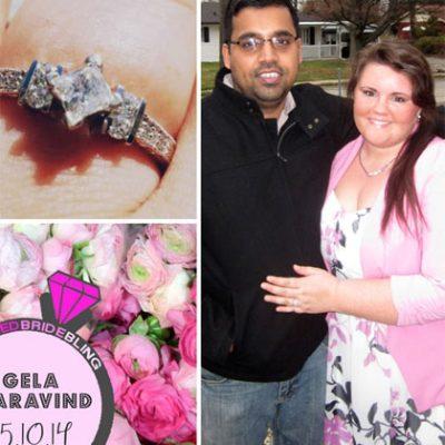 Bummed Bride Bling: Angela & Aravind