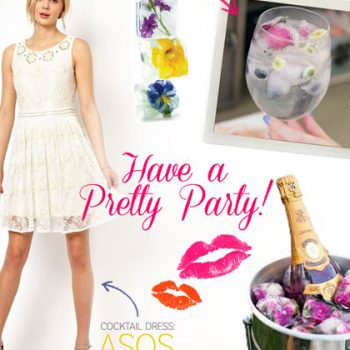 Have a Pretty Party with Floral Ice Cubes