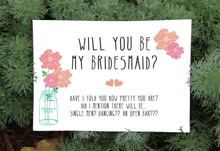 Rustic Will You Be My Bridesmaid Card Free Printable