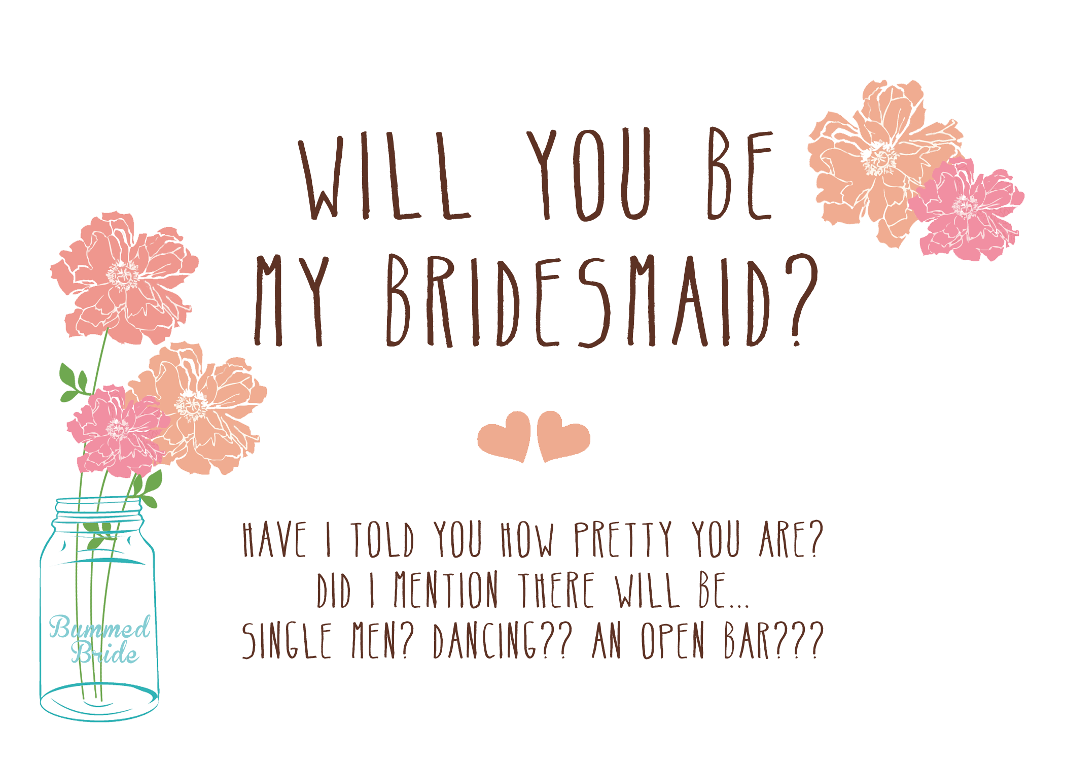 Free Printable: Will You Be My Bridesmaid?