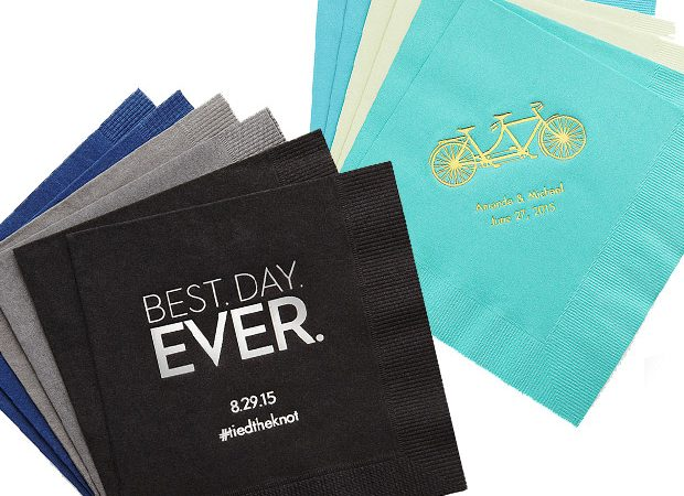 Personalized Napkins Sale from The Knot Wedding Shop | 2 Days Only!