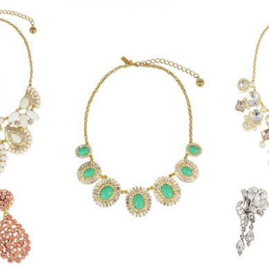 statement necklaces and earrings