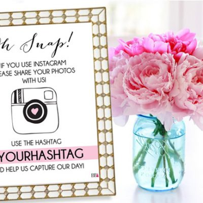 Free Printable Instagram Wedding Sign