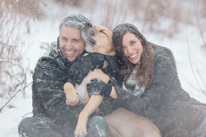Snowy Engagement Photos by Matthew Irving Photography
