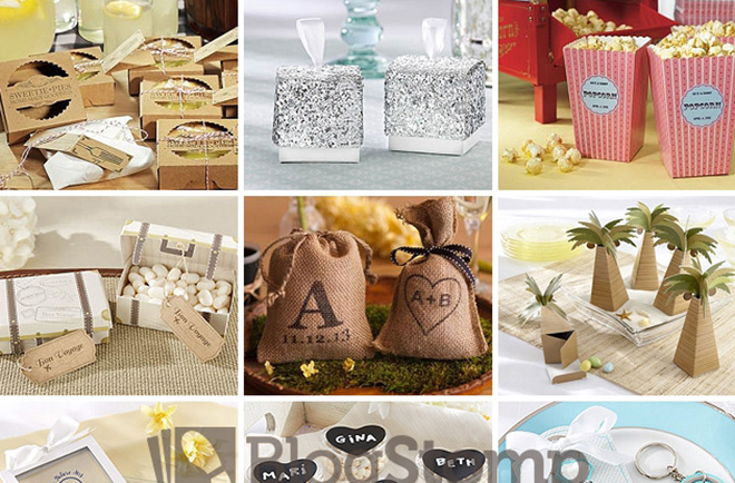 Hand picked wedding favors under a dollar