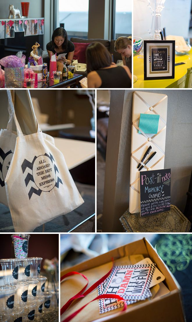 All aboard the hot mess express - Bachelorette party details