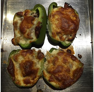 Date Night! Philly Cheese Steak Stuffed Peppers