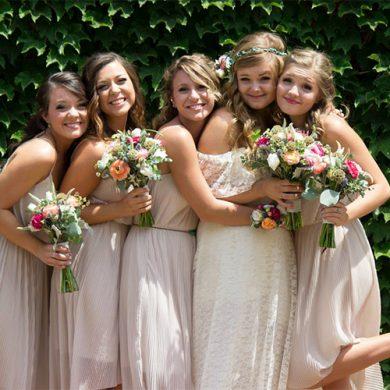 Spring bridesmaids from Bohemian Kansas Ciity wedding