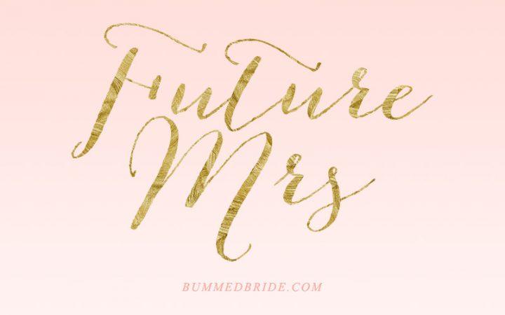 Gold Future Mrs iPhone Wallpaper