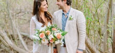 Gorgeous vintage spring elopement
