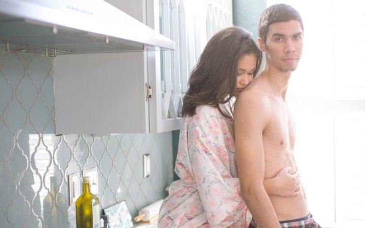Cozy Couples Boudoir Engagement Session