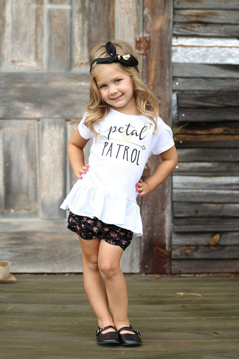 Flower girl petal patrol t-shirt
