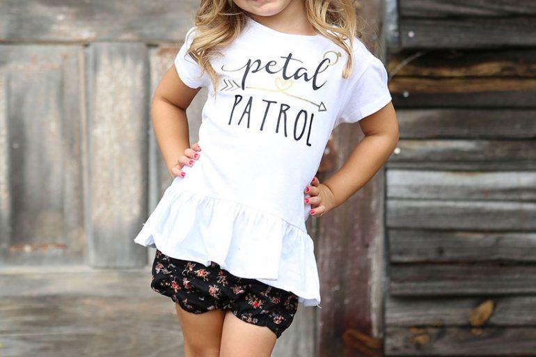 Flower girl petal patrol t-shirt
