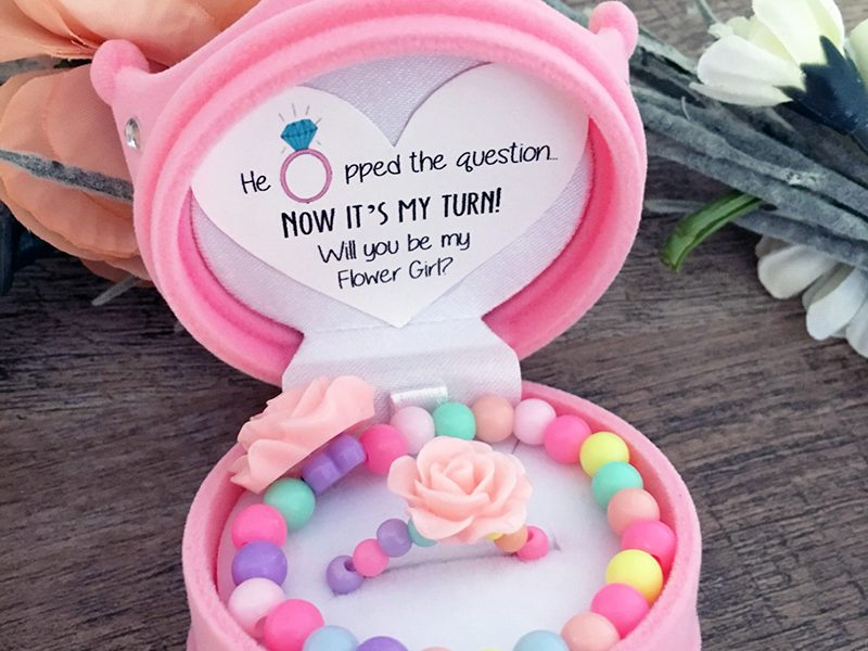The Cutest Way to Pop the Question to Your Flower Girl!