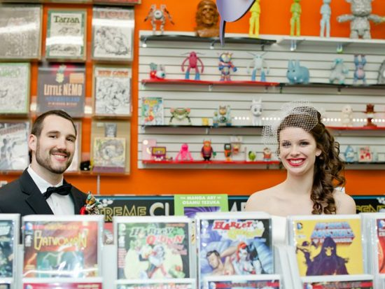 Comic Book Styled Wedding