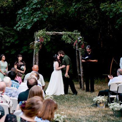 Earthy Outdoor Oregon Wedding