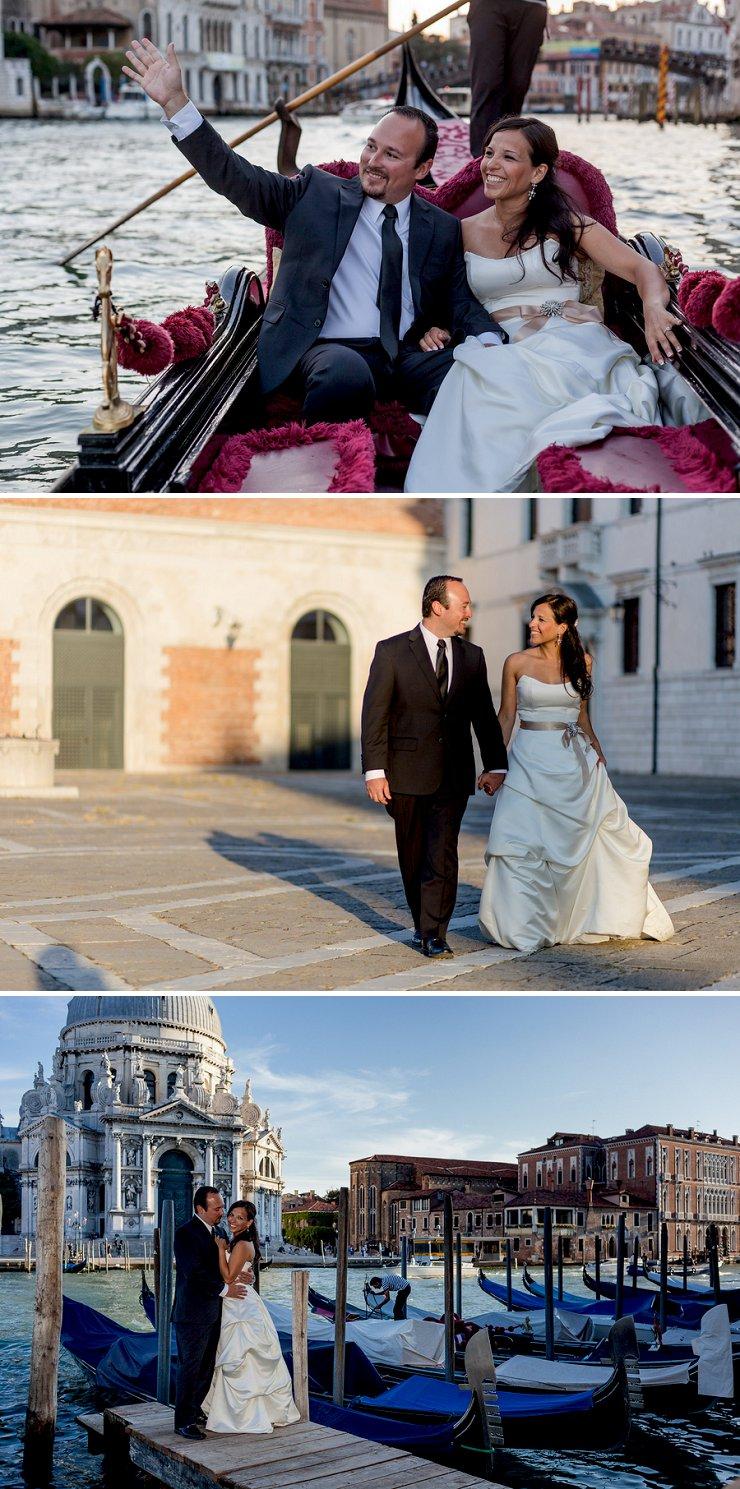 Couple's gondola ride in Venice