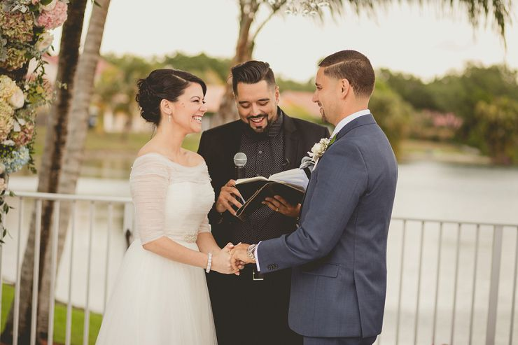 Intimate Backyard Wedding at a Private Residence in Miami, Florida