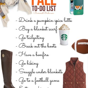 Happy Fall! Our Fall To-Do-List