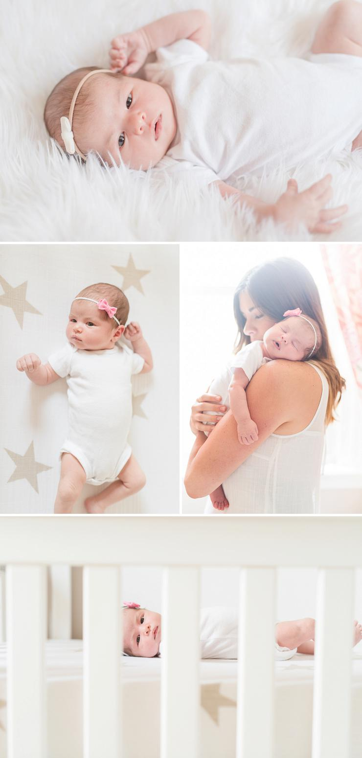 Mom and baby shots from newborn session by Erika Brown Photography