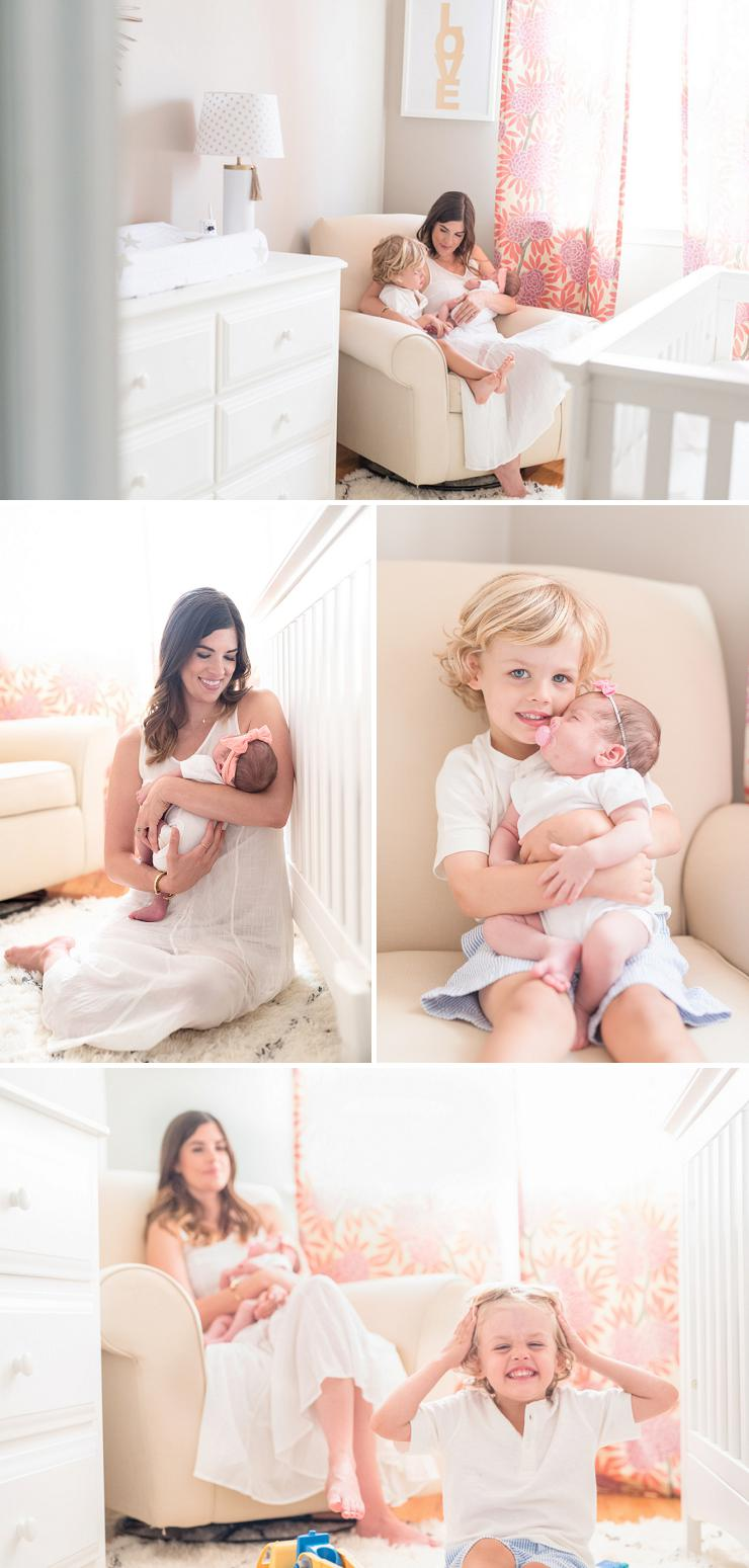 Sweet details from baby Sloane's soft pink girl's nursrey