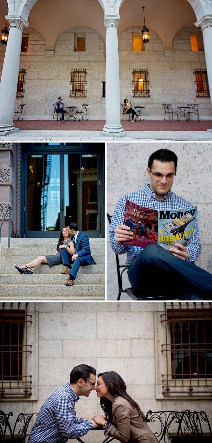 College engagement session at the Boston Public Library