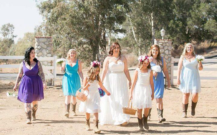 Blue Ombre DIY Country Wedding