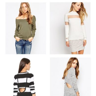 Sexy sweaters with off the shoulder sleeves and cutouts