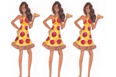 Pizza Bridesmaid Dresses created by Fashionably Funny