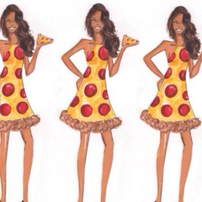 Wedding Goals: Pizza Bridesmaid Dresses