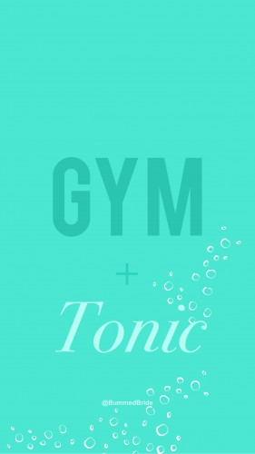 gym and tonic wallpaper teal bummed bride