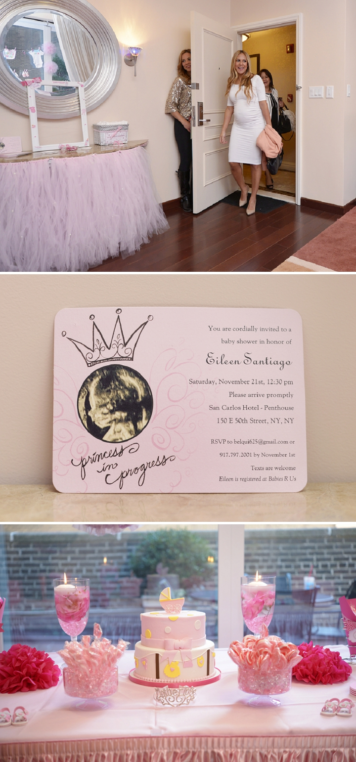 Detailed shots from a girly pink tutu themed baby shower.
