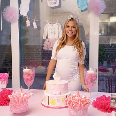 Girly Pink New York City Rooftop Baby Shower