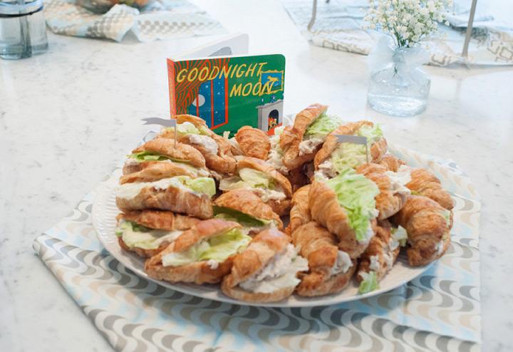 Goodnight Moon chicken and tuna salad sandwiches