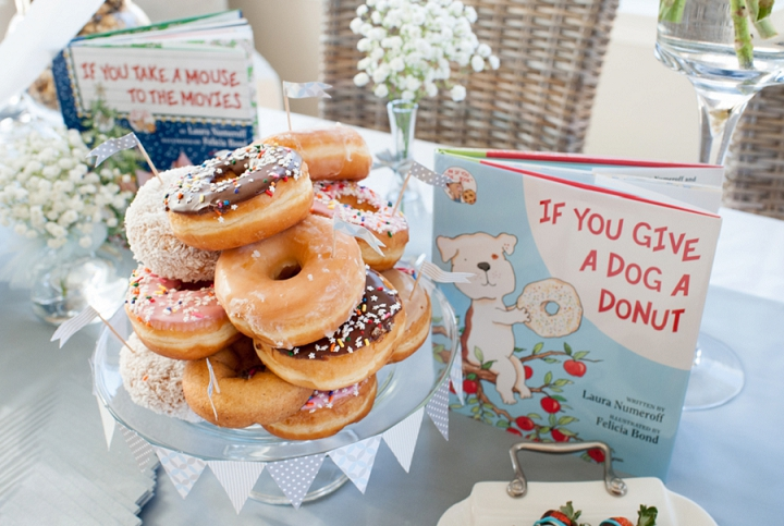 """""""If you Give a Dog a Donut"""" Donut display"""