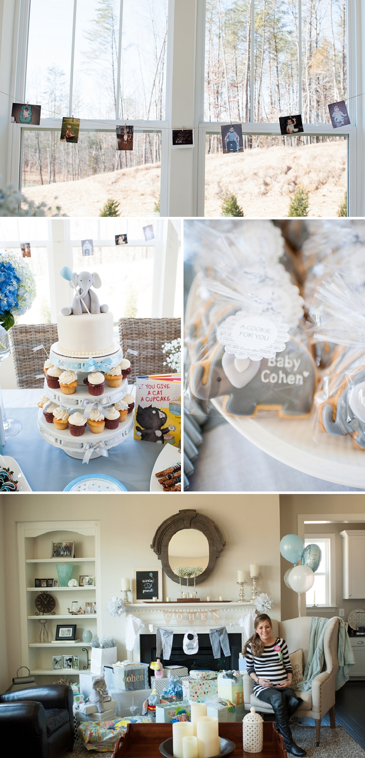 Detailed shots of a baby boy's childhood story inspired shower.