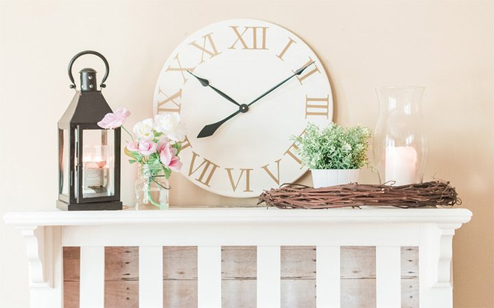 DIY Pottery Barn Inspired Clock and Fireplace