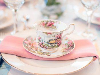 Detailed shot of an English teacup