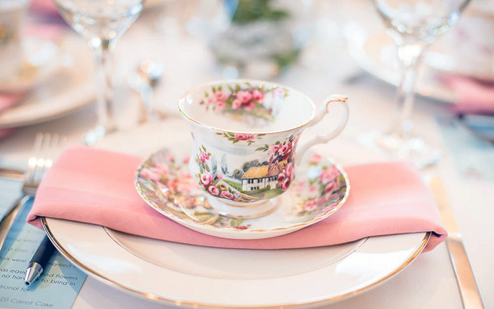 Detailed shot of an English teacup