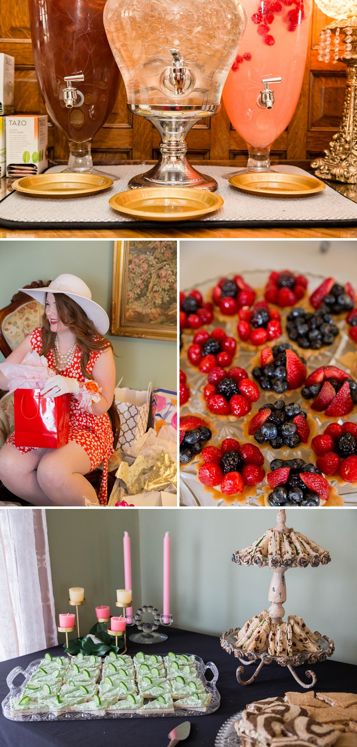 Delicious desserts from a derby themed bridal shower