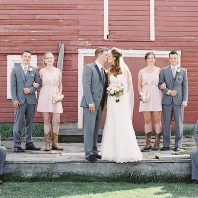 Blush Alberta Dairy Farm Wedding