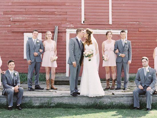Blush Alberta Dairy Farm Wedding