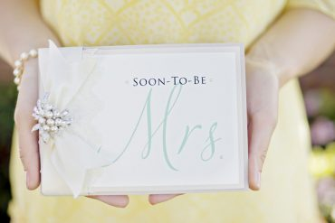Modern Mrs. bridal shower tea party invitation