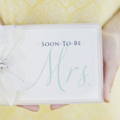 Modern Mrs. bridal shower tea party invitation
