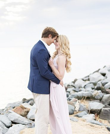 Beautiful nautical engagement look that took place at silver swan bayside