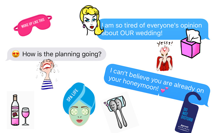 3 Free iOS 10 Stickers that Capture Your Wedding Planning Feelings Perfectly!