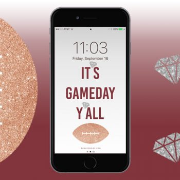 It's Game Day Y'all! [iPhone Wallpaper]