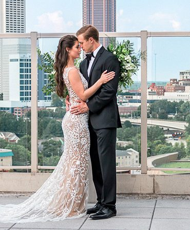 Bride and Groom at the Ventanas in Atlanta, GA