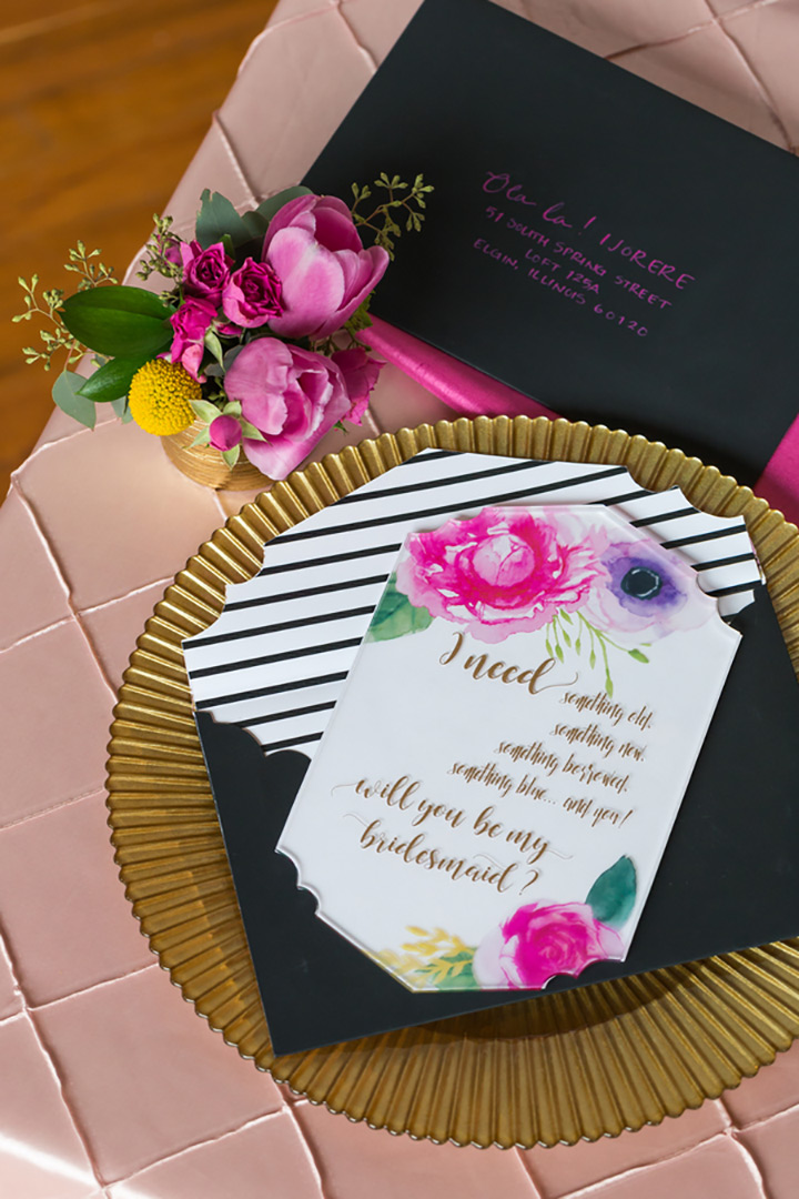 we love this kate spade inspired bridal shower because it would be easy to recreate