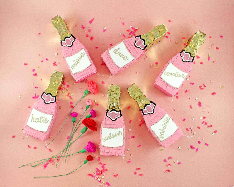 Pink Champagne Mini Pinata • Bumps and Bottles